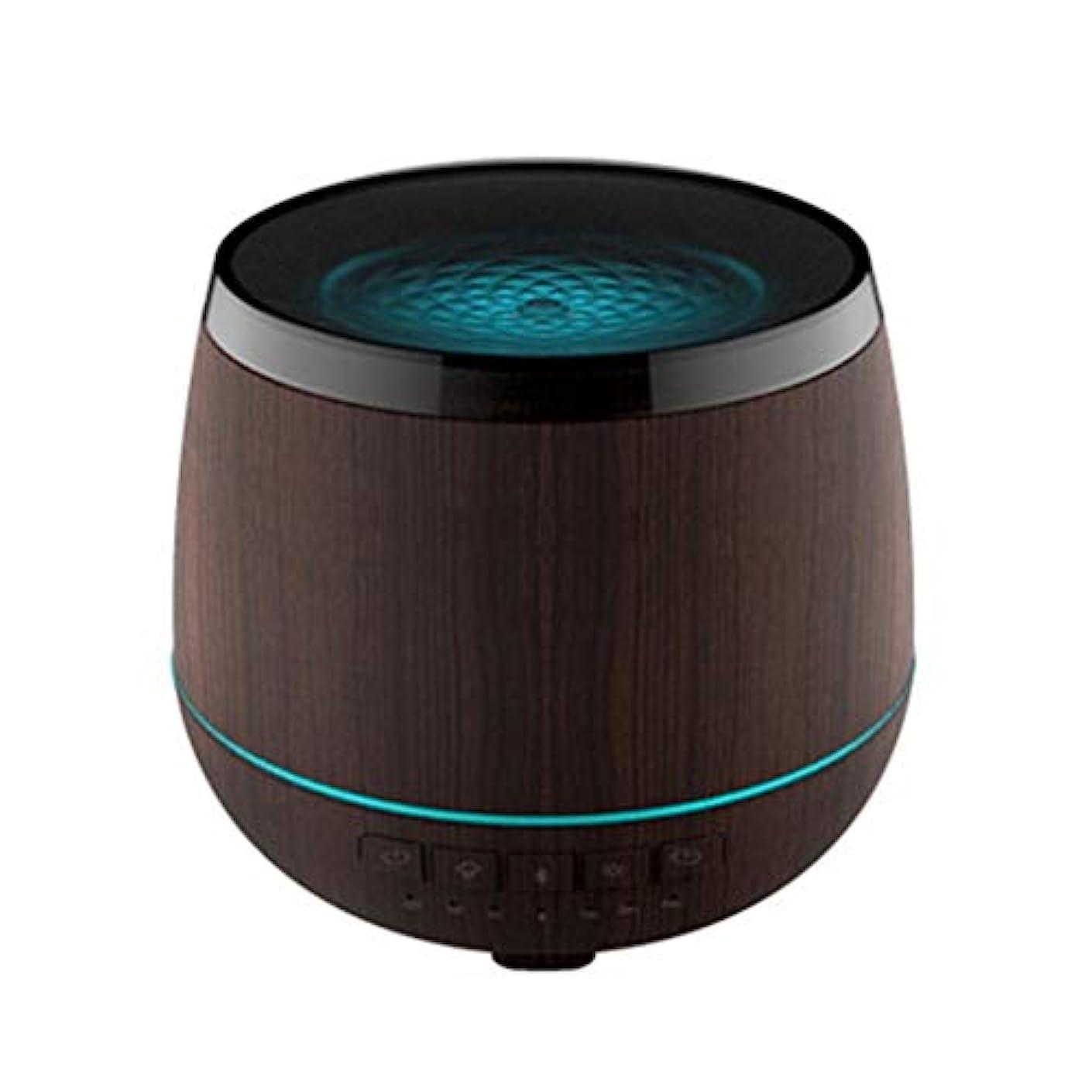 ジュラシックパーク言い換えると動機スマートなブルートゥースのスピーカーの加湿器、可聴周波超音波炉の必要な夜ライト無言の本社 (Color : Black)