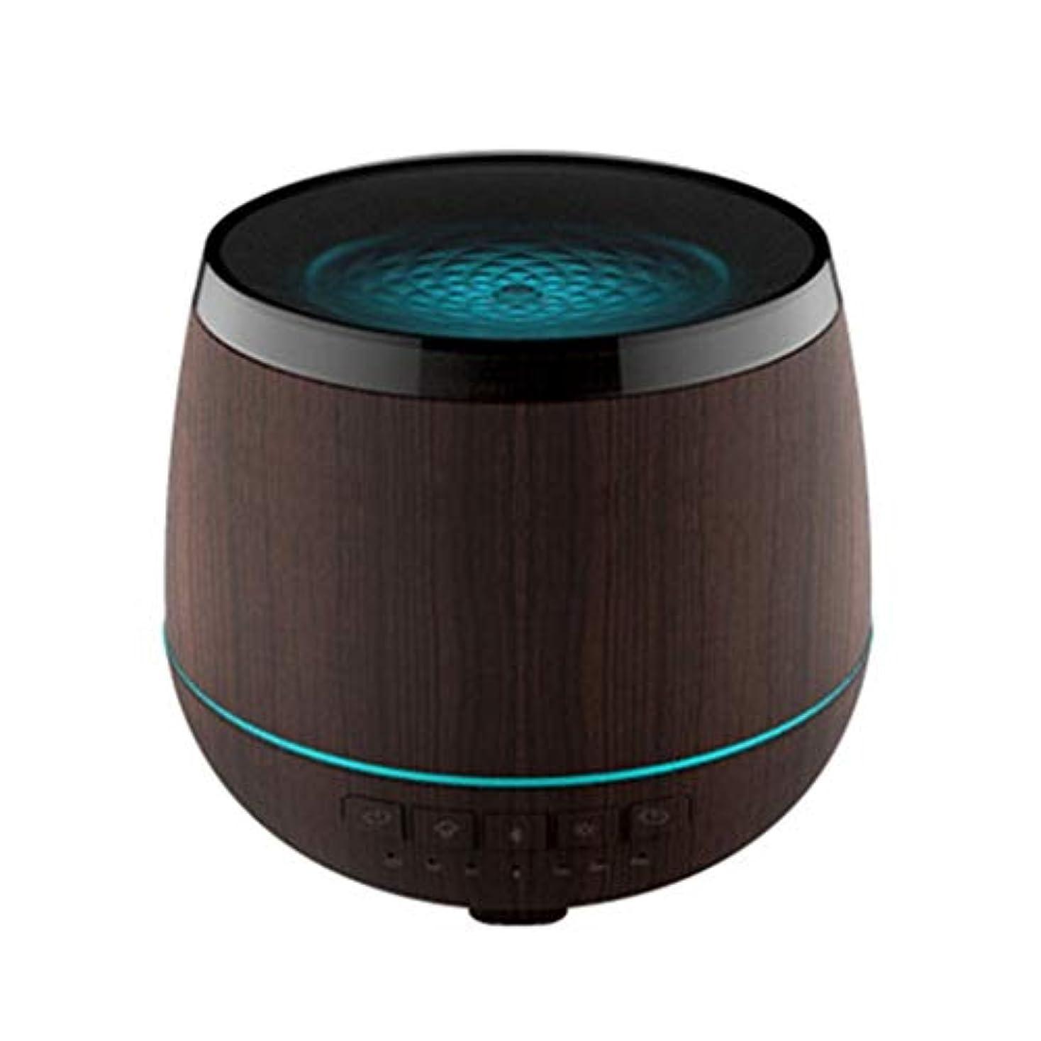 目に見えるニッケル激しいスマートなブルートゥースのスピーカーの加湿器、可聴周波超音波炉の必要な夜ライト無言の本社 (Color : Black)
