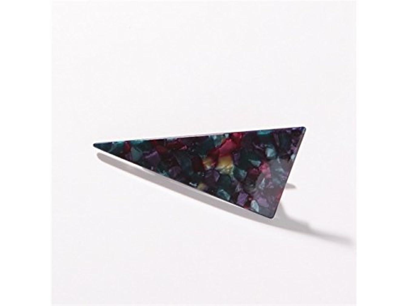 風オーロックさせるOsize 美しいスタイル 大理石の三角ステッチ大人のヘアクリップダックビルクリップヘアアクセサリー(ブラック)