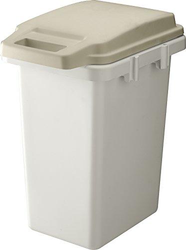 リス ゴミ箱 【防臭】さよなら臭いモレ ワンハンドパッキンペール 大容量33L ベージュ