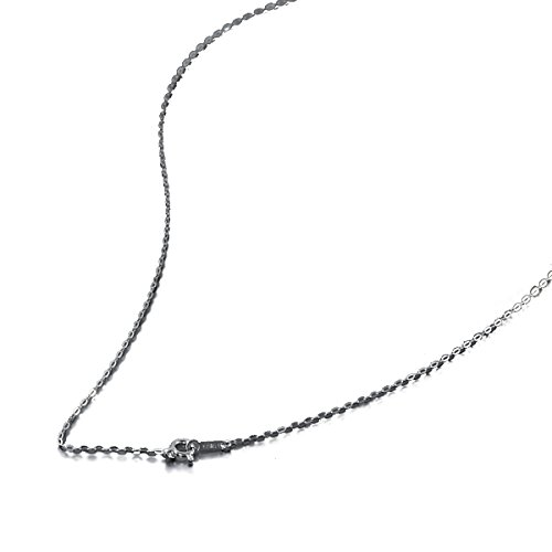 K18WG 小判みたいなチェーン・ネックレス 1.1mm 50cm「鎖タイプ 18金 ホワイトゴールド 18k 貴金属 ジュエリー」