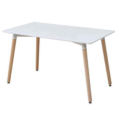 山善(YAMAZEN) Plareaテーブル テーブル レクタングル 120×70×70cm レクタングル イームズ リプロダクト品 デザイナーズ PRT-120(WH)