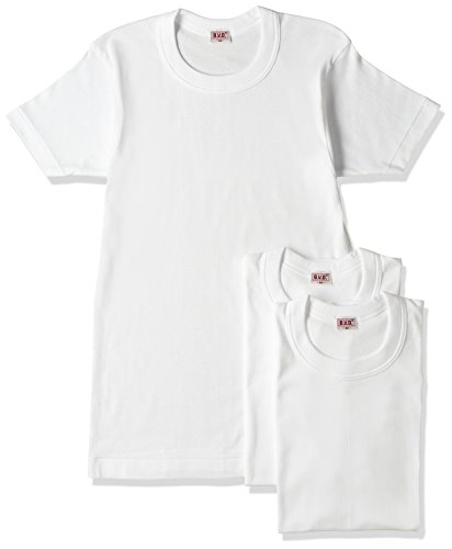 (ビー・ブイ・ディ)B.V.D. GOLD 綿100% 丸首半袖Tシャツ 3枚組 G013TS3P WH ホワイト M