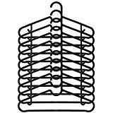 (Black) - Ikea Hangers Flexible Sturdy Black (20 Pack)