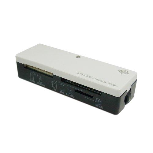PLANEX 35メディア対応 小型USBメモリーカードリーダー/ライター (ホワイト) PL-CR35UW