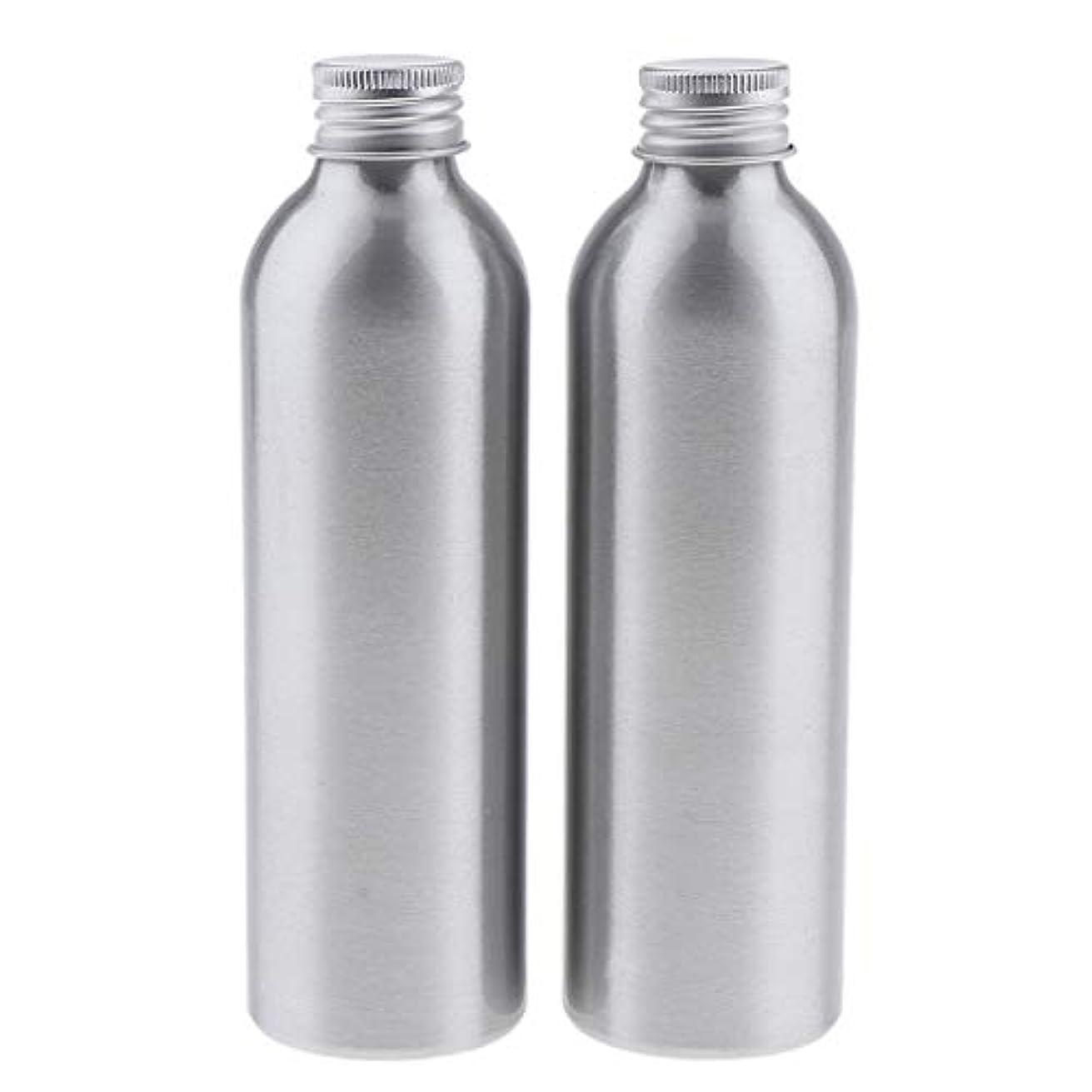 貢献彼の市の花DYNWAVE 2本 アルミボトル 空容器 化粧品収納容器 ディスペンサーボトル シルバー 全5サイズ - 250ml