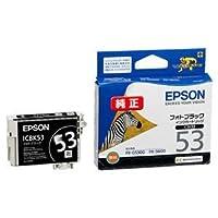 (まとめ) エプソン EPSON インクカートリッジ フォトブラック ICBK53 1個 【×4セット】 AV デジモノ パソコン 周辺機器 インク インクカートリッジ トナー インク カートリッジ エプソン(EPSON)用 [並行輸入品]