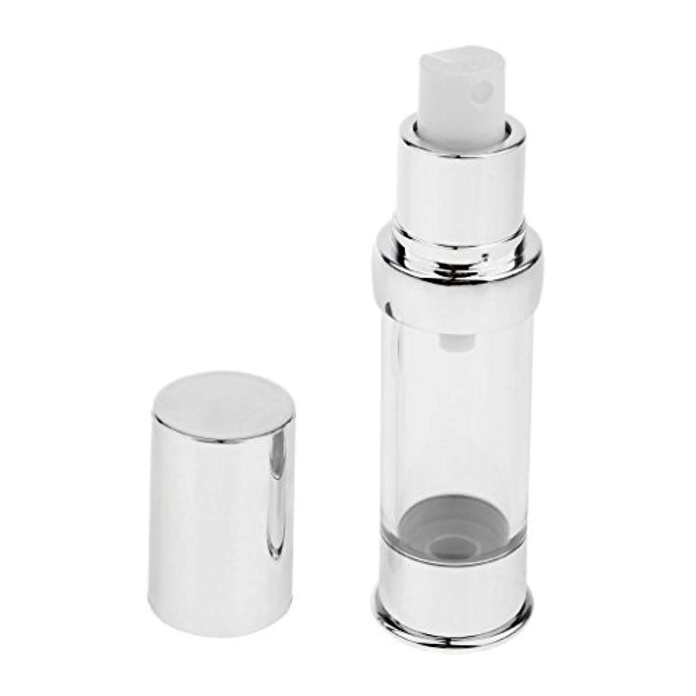 発動機小競り合い背骨エアレスボトル 無菌 エアレス ポンプボトル 詰め替え可能 化粧用 ローション 容器 4サイズ選べ - 15ml