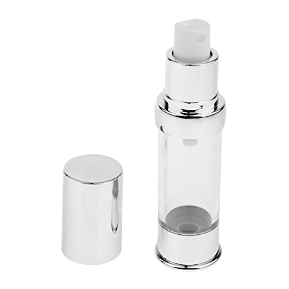 Perfeclan エアレスボトル 無菌 エアレス ポンプボトル 詰め替え可能 化粧用 ローション 容器 4サイズ選べ - 15ml