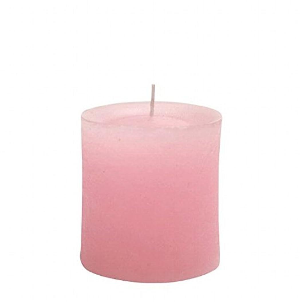 しっかり魂栄養ヤンキーキャンドル(YANKEE CANDLE) ラスティクピラー70×75 「 ピンク 」