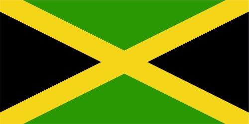 KIWISTAR ステッカー - Jamaica ジャマイカ - 5つのサイズの国の旗バンパーステッカーで利用可能