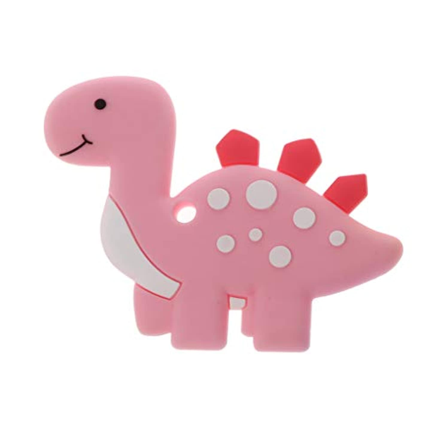 気がついてオゾンレンダリングLanddumシリコーンおしゃぶり恐竜おしゃべり赤ちゃん看護玩具かむ玩具歯が生えるガラガラおもちゃ - ロイヤルブルー