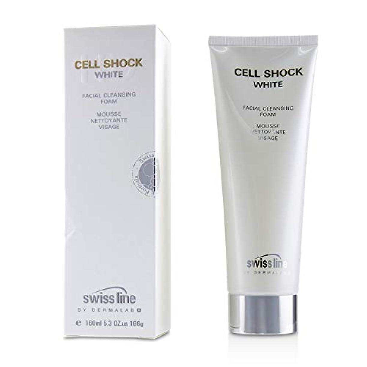 初期の有力者曲げるスイスライン Cell Shock White Facial Cleansing Foam 160ml/5.3oz並行輸入品