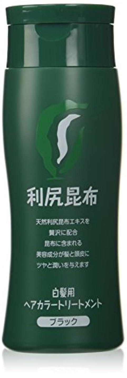 糸伝統的ミケランジェロ利尻昆布ヘアカラートリートメント白髪染め200g(ブラック)