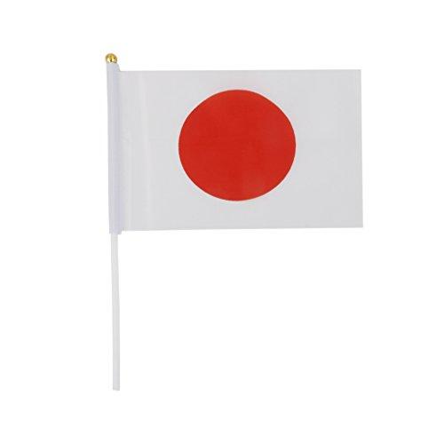 【ノーブランド品】日本国旗 ミニ 国旗 手旗 応援手旗 12枚