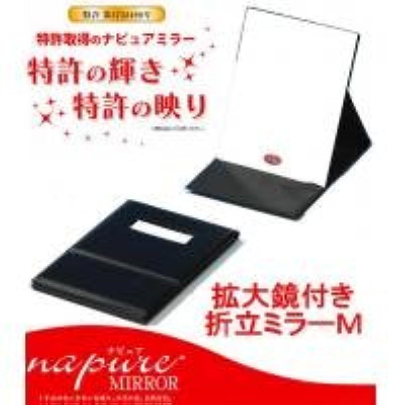 無法者蜜対話HP-42 ナピュア プロモデル拡大鏡付き折立ミラー(M)