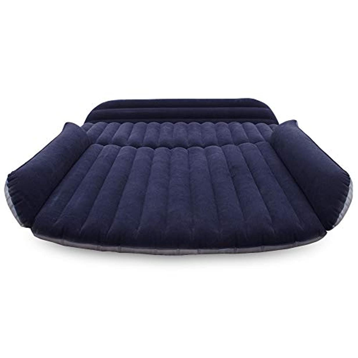 コメントバックテニスキャンプ旅行膨脹可能な車のベッドの SUV の後部座席カバー空気マットレスの車の空気マットレスの植毛の布空気ポンプ