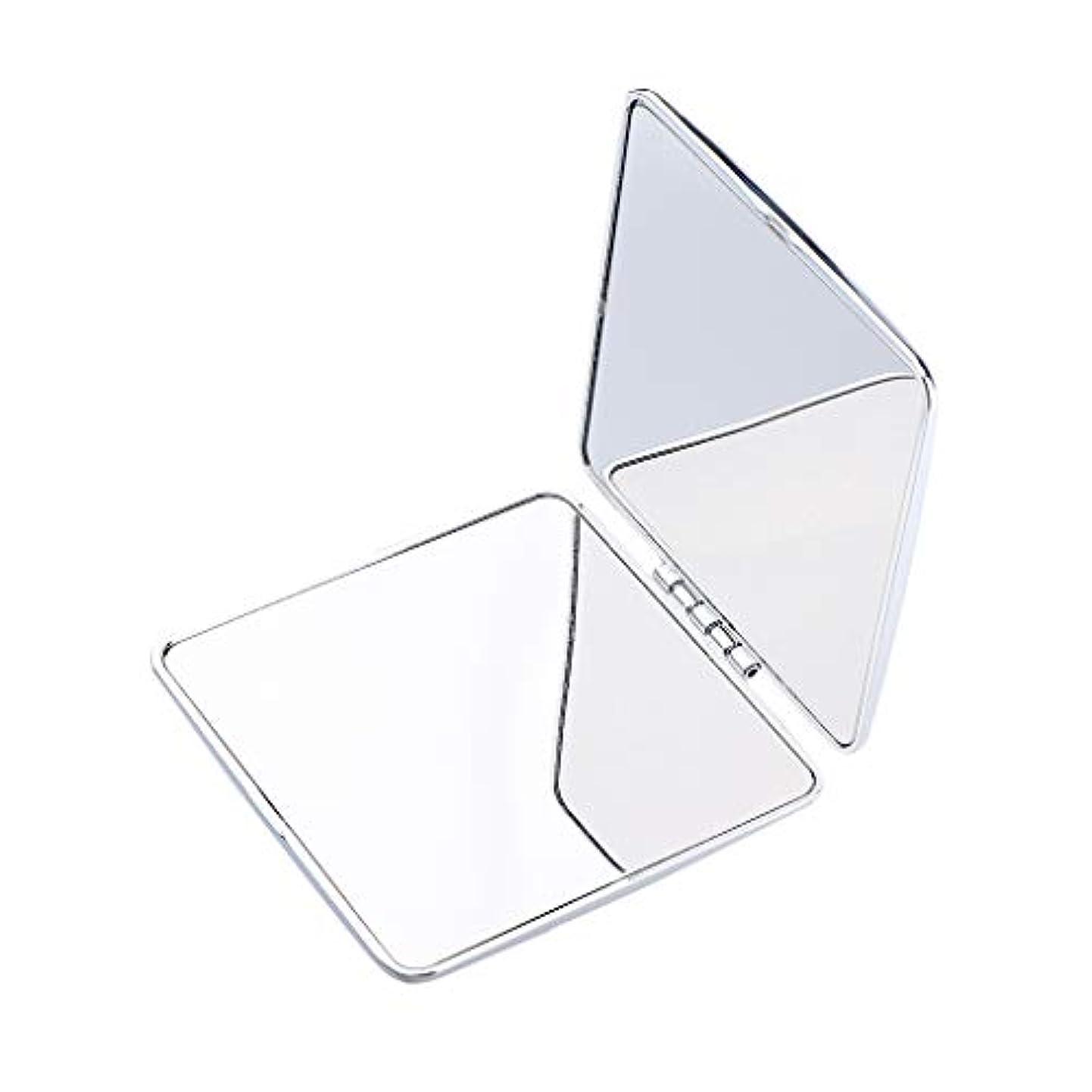 負担バタフライ忠実にポータブルポケットミラーコンパクトメイク化粧品ファッション虚栄心ミラー - 正方形