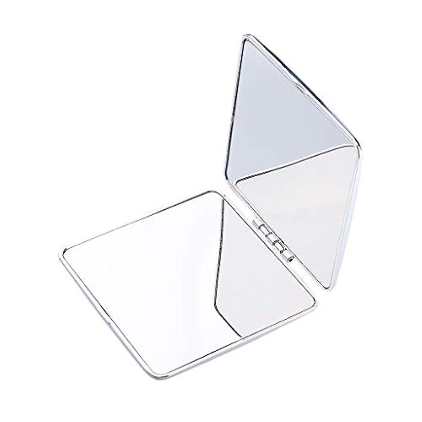 慢性的抜け目がないヨーロッパポータブルポケットミラーコンパクトメイク化粧品ファッション虚栄心ミラー - 正方形