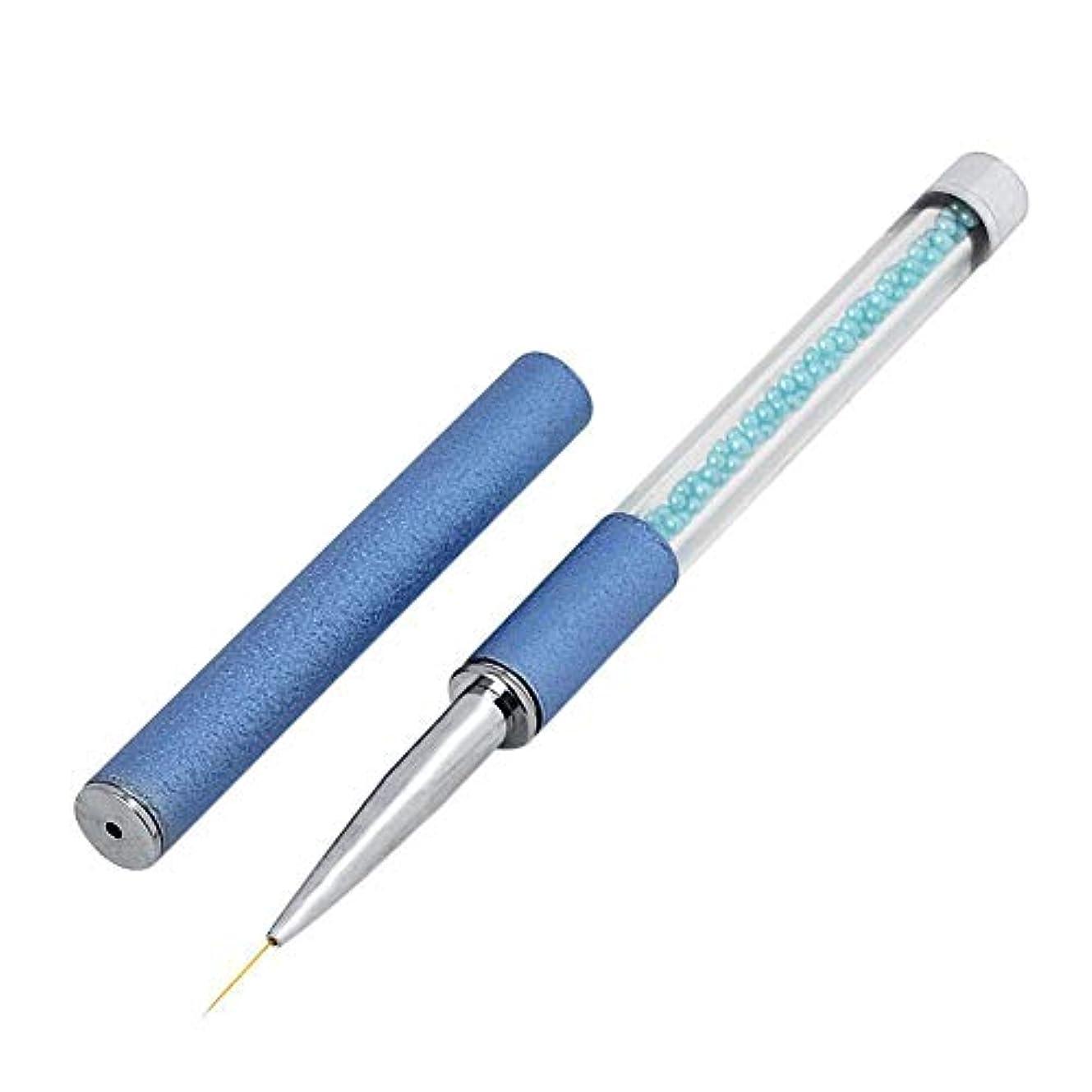 細分化する不変従来のMurakush ネイルツール ブルーパールバー 塗装ペン つや消し バレルパール ネイル