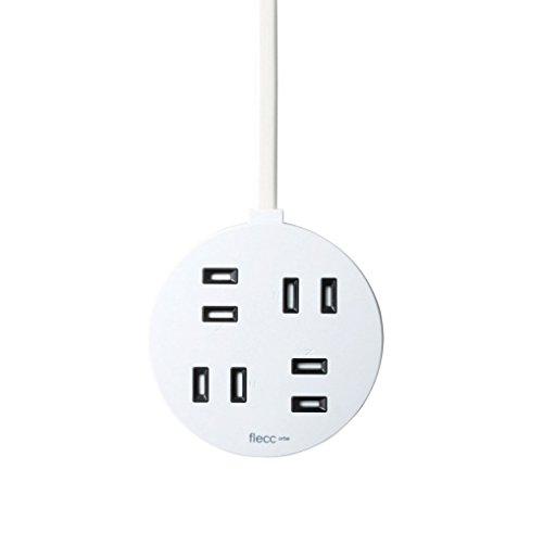 ELECOM flecc orbe 電源タップ ホコリシャッター付