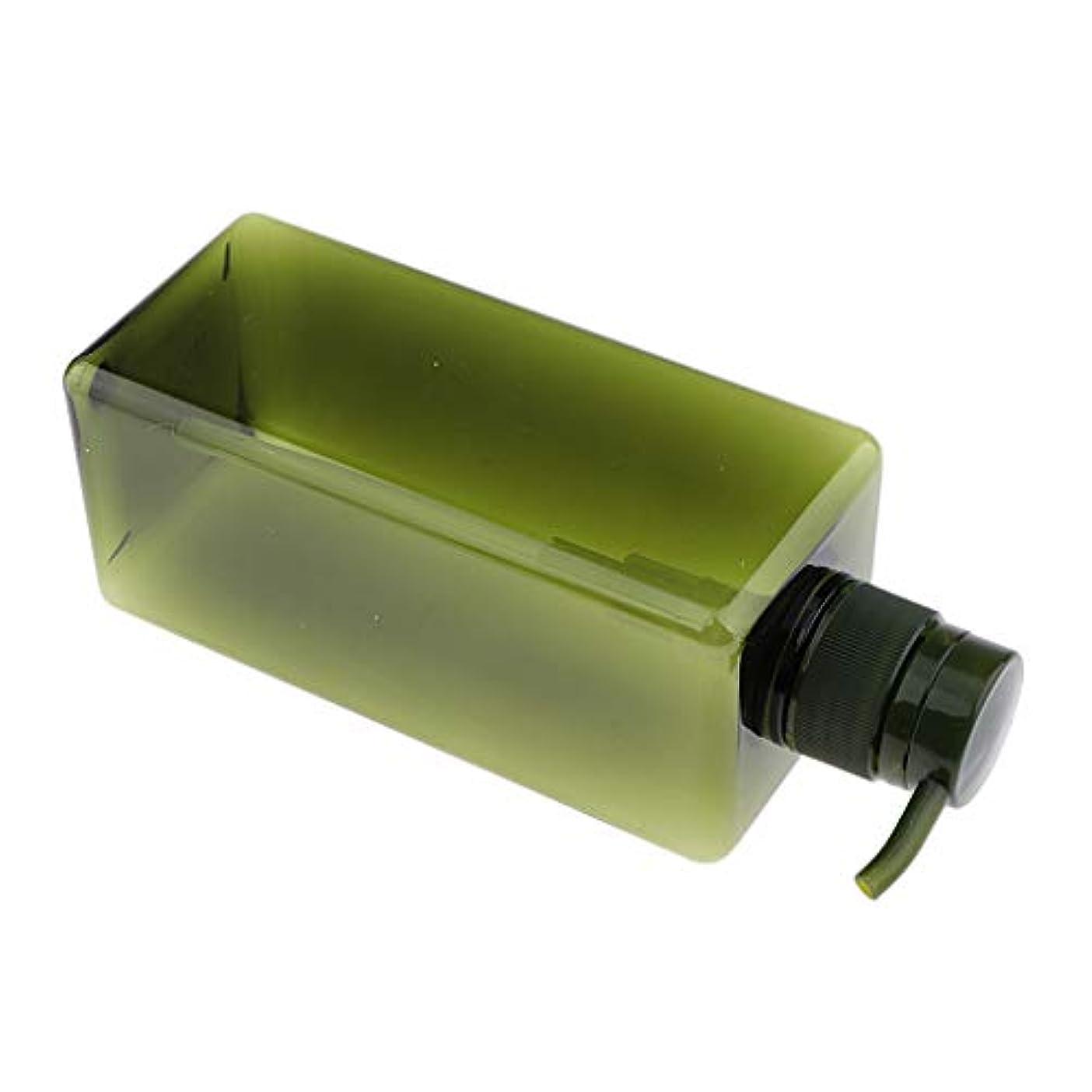 B Baosity ソープディスペンサー ローションボトル シャンプーコンテナ 650ml 高品質 プラスチック 4色選べ - グリーン