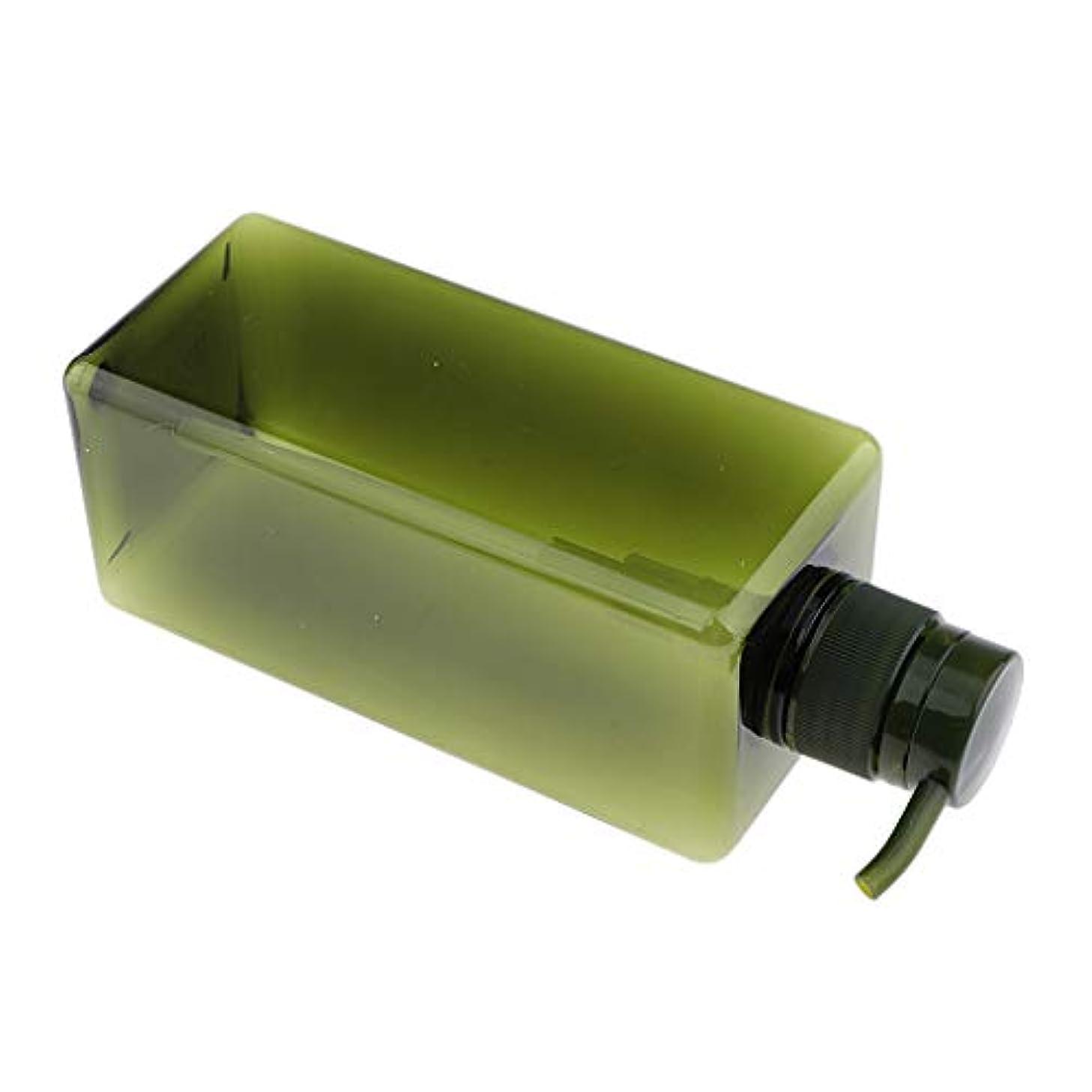 写真撮影バーゲンホームレスソープディスペンサー ローションボトル シャンプーコンテナ 650ml 高品質 プラスチック 4色選べ - グリーン