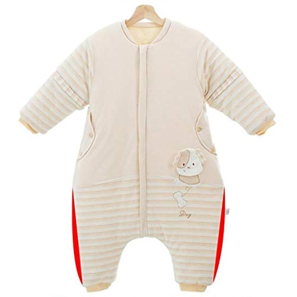 予報突破口正統派子供の寝袋子供のパジャマ、健康で快適な 色のコットン生地、ジッパーの股間と取り外し可能な袖、屋内と屋外の子供が風邪をひくのを防ぐ (サイズ さいず : XXL(100-115CM))