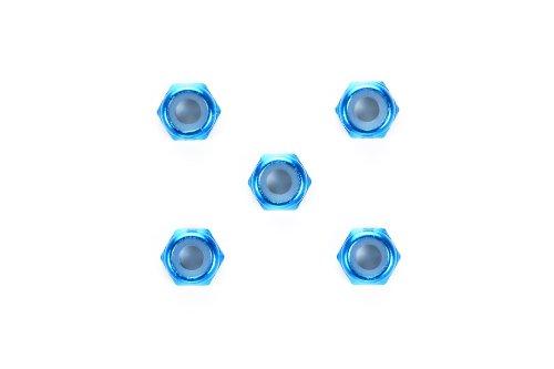 ホップアップオプションズ OP.1155 3mm アルミ薄型ロックナット(ブルー・5個) 54155