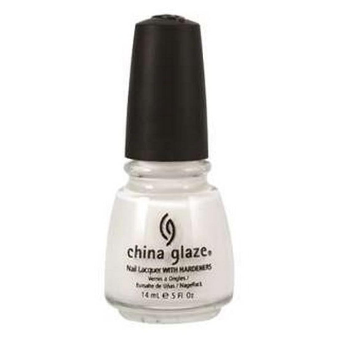 エキゾチック安いですピクニック(6 Pack) CHINA GLAZE Nail Lacquer with Nail Hardner 2 - Snow (並行輸入品)