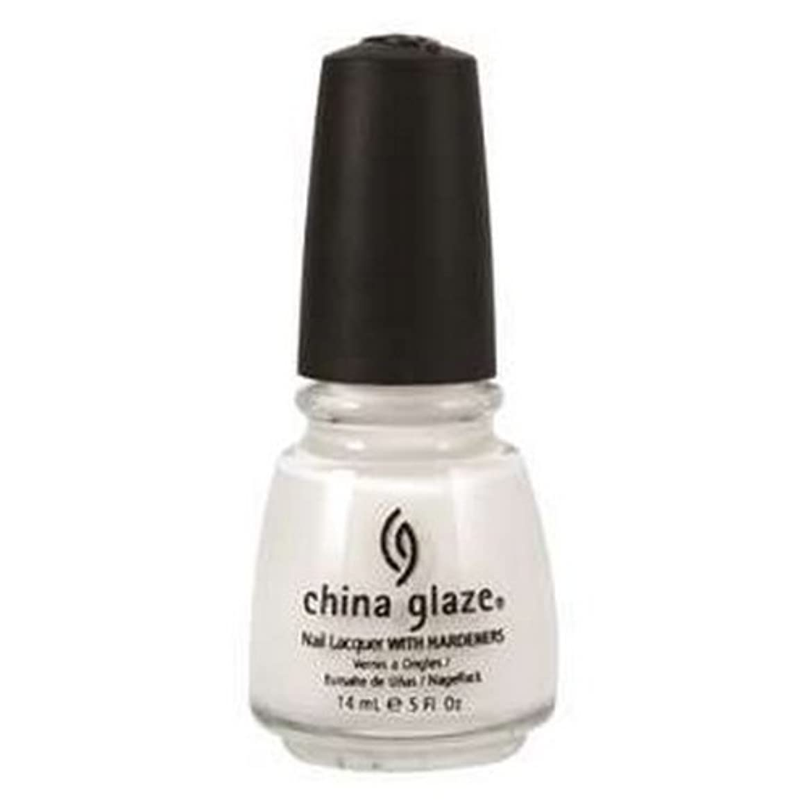 スーツケース抵抗する傾向(6 Pack) CHINA GLAZE Nail Lacquer with Nail Hardner 2 - Snow (並行輸入品)