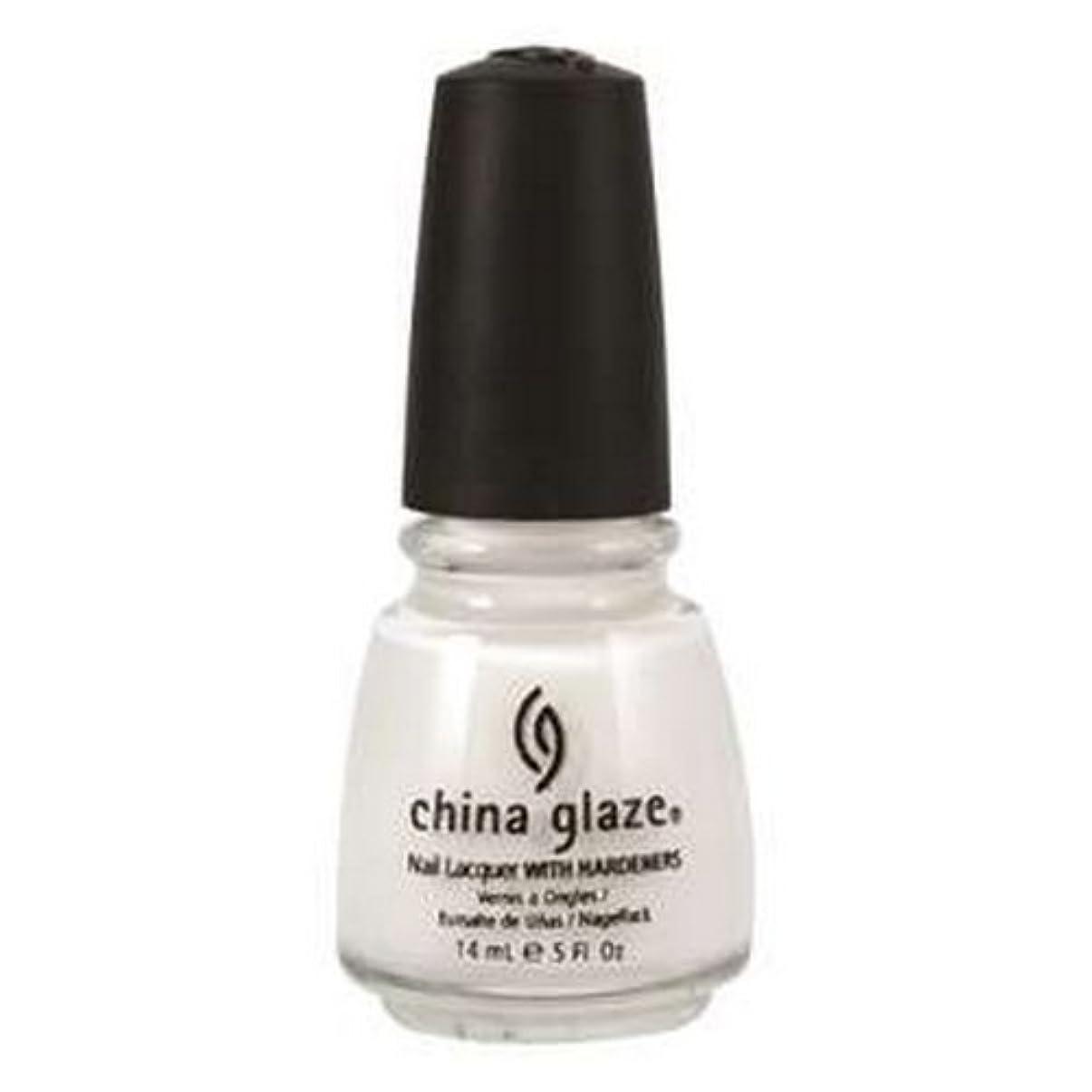 写真を撮るテクニカル忠実(6 Pack) CHINA GLAZE Nail Lacquer with Nail Hardner 2 - Snow (並行輸入品)