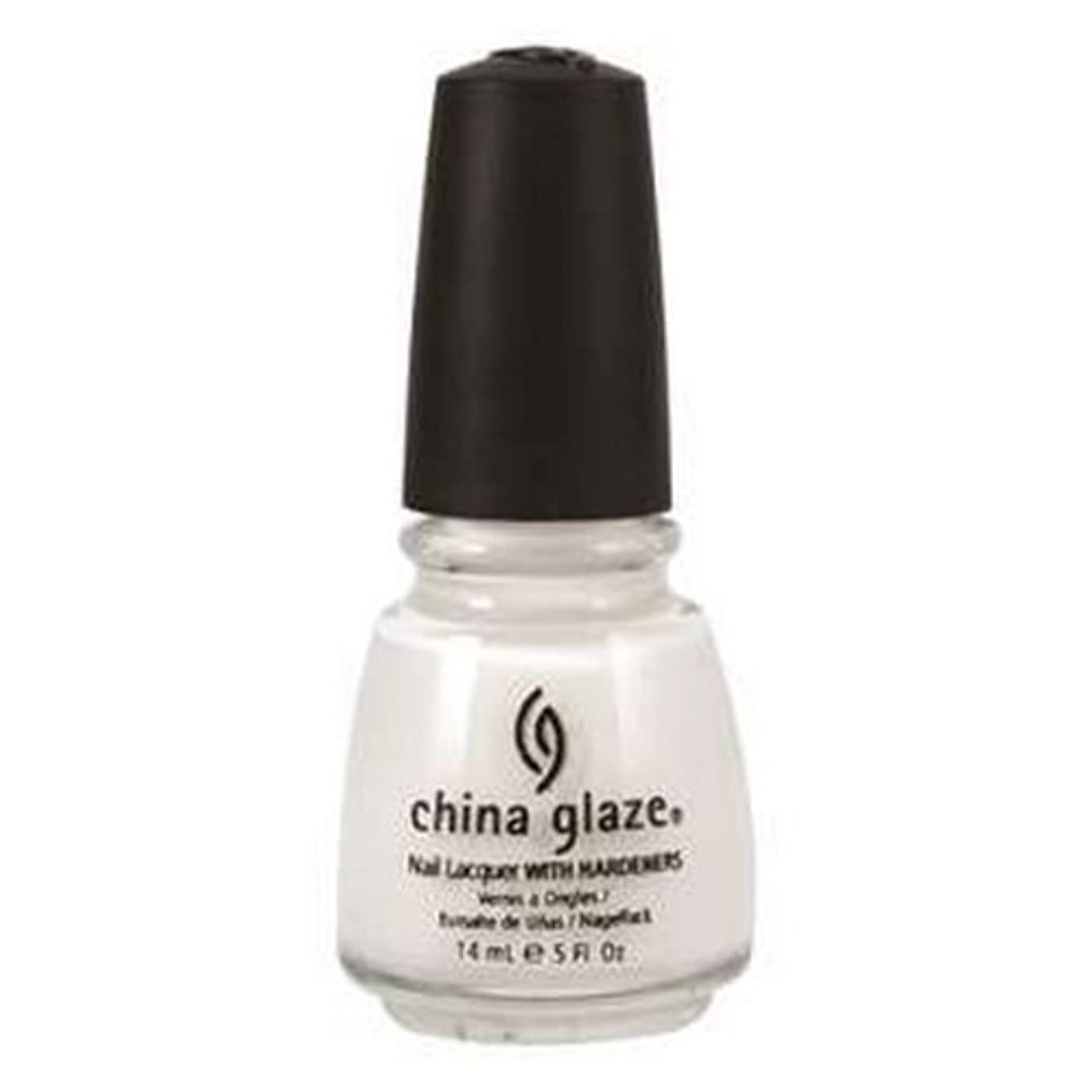 準備した前に閉じ込める(3 Pack) CHINA GLAZE Nail Lacquer with Nail Hardner 2 - Snow (並行輸入品)
