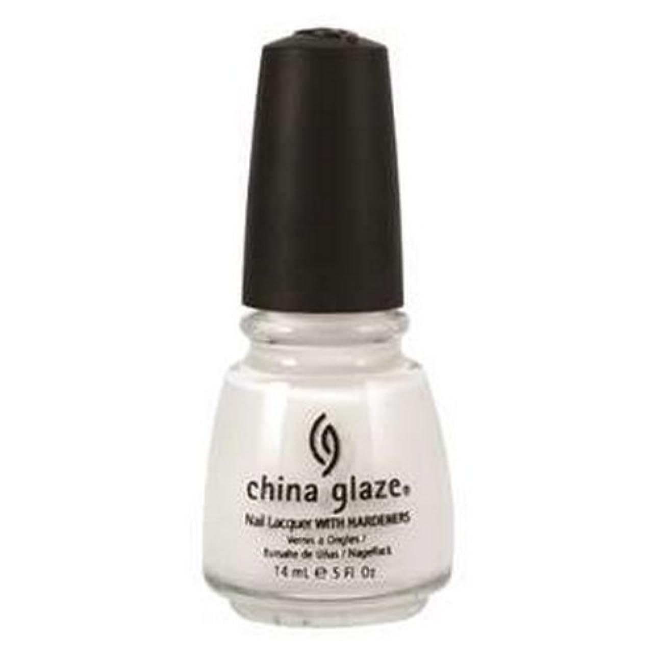 友だち遺産武装解除CHINA GLAZE Nail Lacquer with Nail Hardner 2 - Snow (並行輸入品)