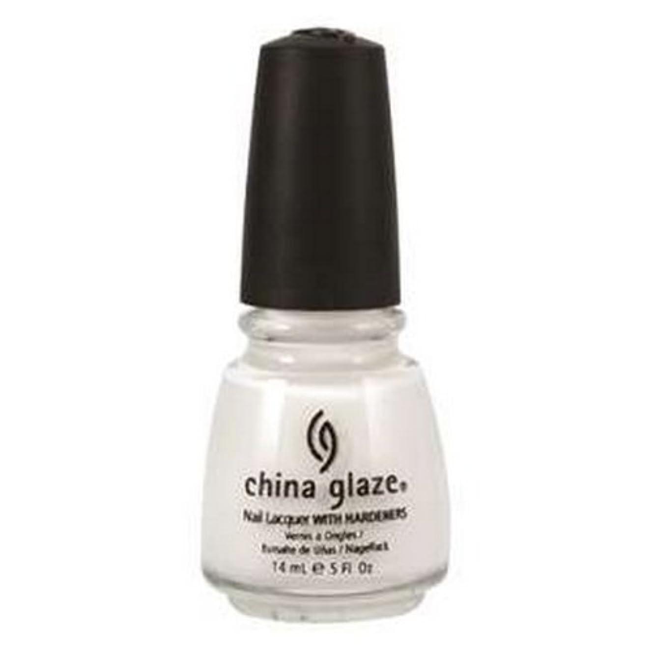 医薬事故置くためにパック(6 Pack) CHINA GLAZE Nail Lacquer with Nail Hardner 2 - Snow (並行輸入品)