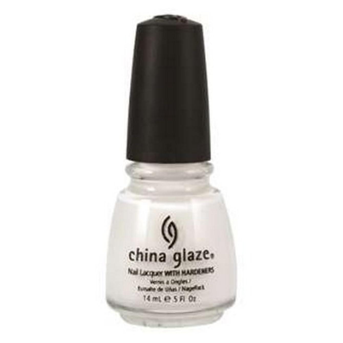 抜け目がないムスゴージャス(3 Pack) CHINA GLAZE Nail Lacquer with Nail Hardner 2 - Snow (並行輸入品)