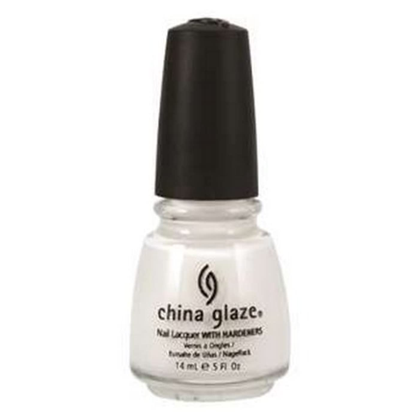 高架材料きらめく(3 Pack) CHINA GLAZE Nail Lacquer with Nail Hardner 2 - Snow (並行輸入品)