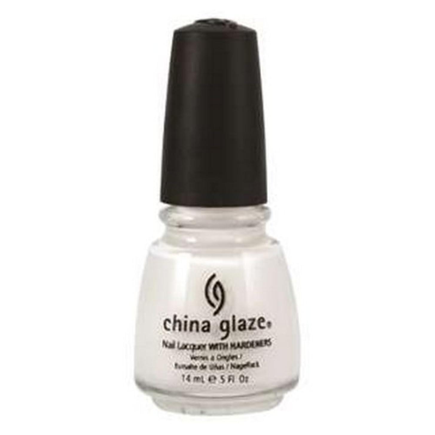 バッフルネブヒステリックCHINA GLAZE Nail Lacquer with Nail Hardner 2 - Snow (並行輸入品)