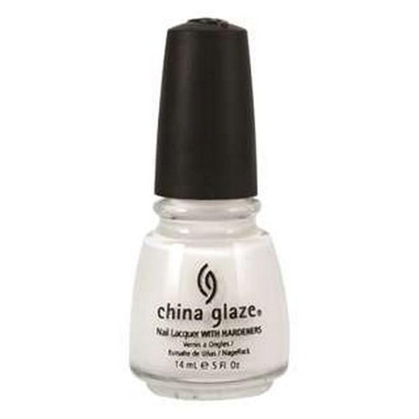 無能その裁判官(6 Pack) CHINA GLAZE Nail Lacquer with Nail Hardner 2 - Snow (並行輸入品)