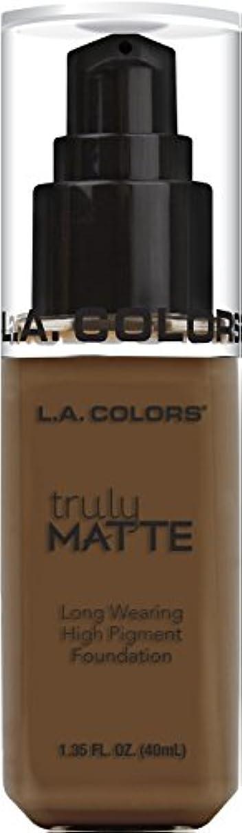 ウサギ側増幅器L.A. COLORS Truly Matte Foundation - Mahogany (並行輸入品)