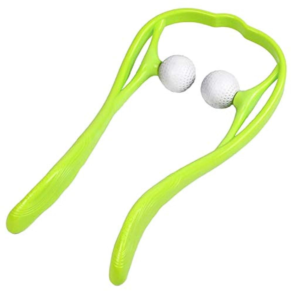芸術レスリングニックネームJOUDOO 肩マッサージャー 頚椎マッサージ U型マッサージ器 首 足 腰 高弾力性繊維ストレス解消 JZA002 (緑色)