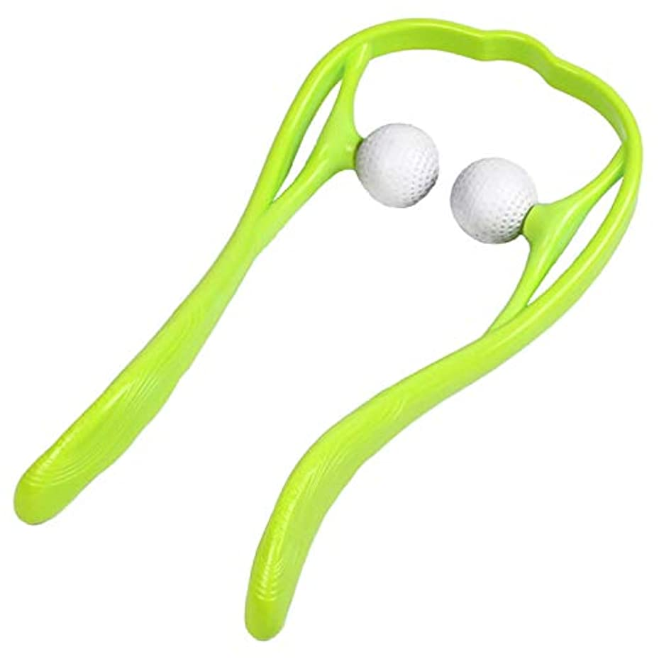 JOUDOO 肩マッサージャー 頚椎マッサージ U型マッサージ器 首 足 腰 高弾力性繊維ストレス解消 JZA002 (緑色)
