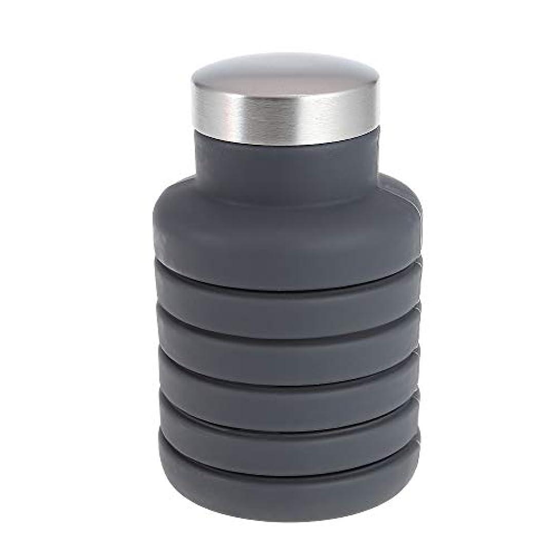 精巧なルビー無礼にJVSISM 引き込み式のウォーターカップアウトドアスポーツボトル折りたたみウォーターボトル500Ml ポータブルウォーターボトル、ブルー