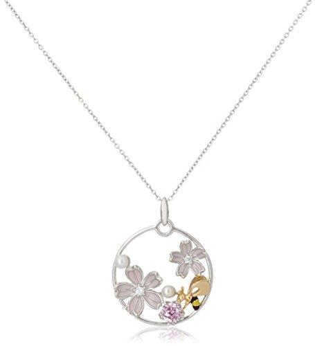 [サクラダイヤモンド] Sakura Diamond さくらACCESSORY SV925 シルバー キュービックジルコニア ペンダント ネックレス エポキシ樹脂 保証書付 PN-109