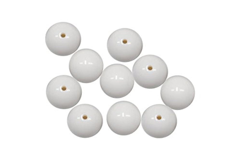 SHAREKI キラキラ クリスタルボール ラインストーン エポキシ樹脂粘土 芯材 プラスチックボール 16mm 穴2 穴2mm 10個入り