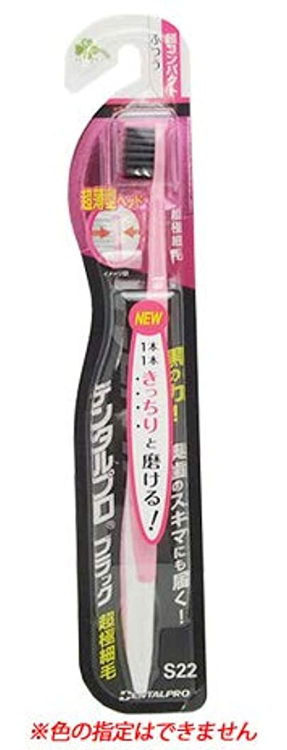 意図的ディプロマ本体くらしリズム デンタルプロ ブラック 超極細毛 超コンパクト ふつう S22 (1本) 大人用 歯ブラシ