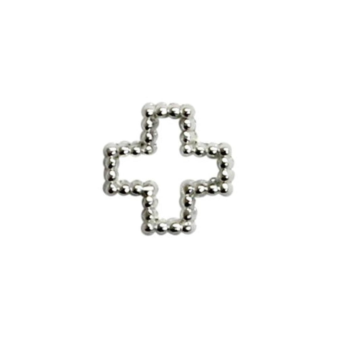 移植病ペストプリティーネイル ネイルアートパーツ ブリオンクロスS シルバー 15個