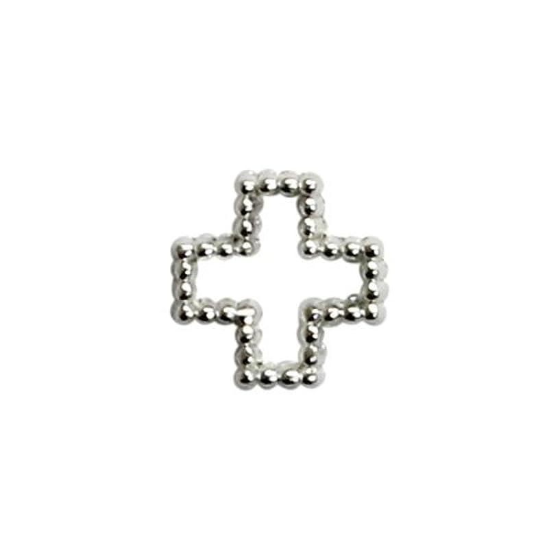 凝縮する素晴らしい何故なのプリティーネイル ネイルアートパーツ ブリオンクロスS シルバー 15個