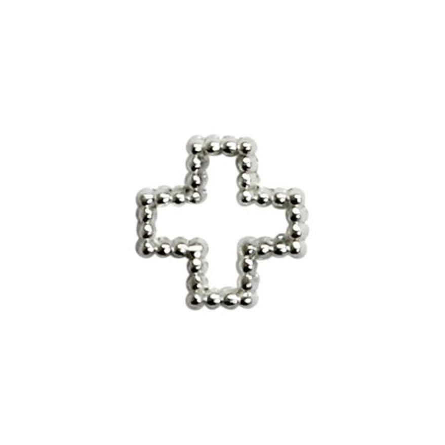 薬用判定連帯プリティーネイル ネイルアートパーツ ブリオンクロスS シルバー 15個