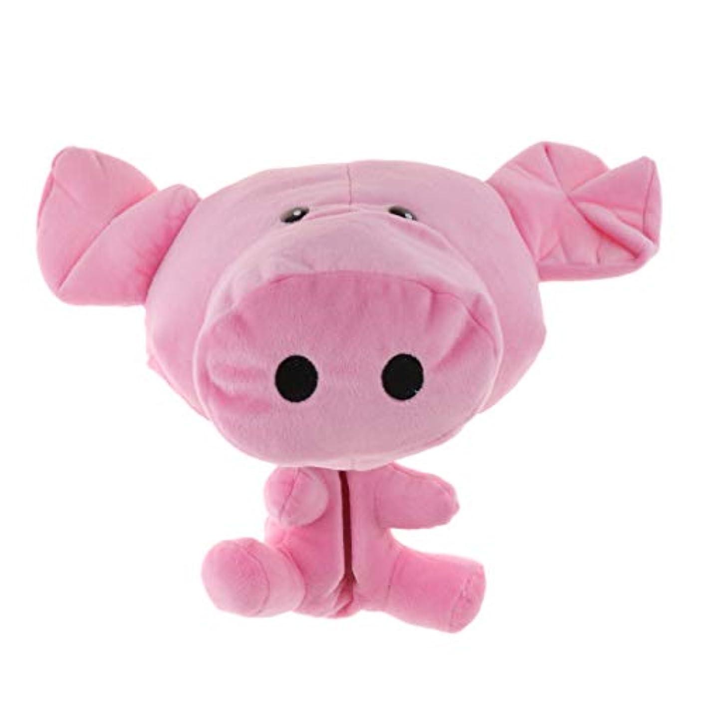 のみ扱いやすい踏み台ゴルフウッドカバー ヘッドカバー ドライバー用 クラブカバー 動物 ぬいぐるみ 豚 ピンク 可愛い